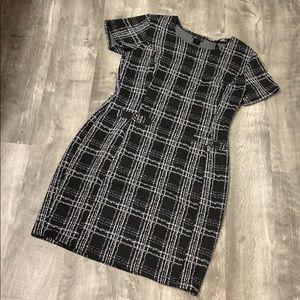 Plaid Form-Fitting Dress